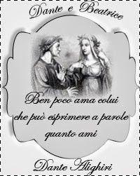 Non si vive di solo pane....Facciamo silenzio!  Una riflessione dal grande Dante, il sommo vate...sull'amore, una riflessione da chi ha tanto amato senza avere mai la sua amata...Dante e Beatrice...non una leggenda, ma una storia d'amore vera, comunque ecco come la pensava lui..e così la penso anche io nel mio piccolo...non mi paragono a Dante...ci mancherebbe altro..solo...ma quante persone si riempiono la bocca di paroloni.....VUOTI!  Facciamo silenzio!