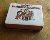 Thelwells Penelope and Kipper Eraser Rubber collectible novelty vintage retro 70s stationary student school pencil case RARE In Wrapper - pinned by pin4etsy.com