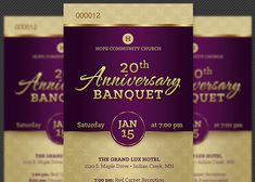 banquet tickets sample