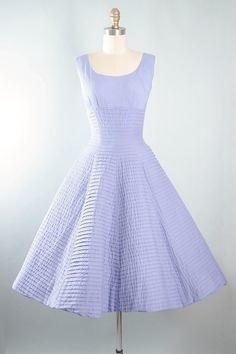 Vintage 50s GIGI YOUNG Dress / 1950s LAVENDER by GeronimoVintage