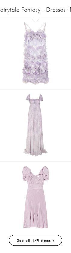 """Fairytale Fantasy - Dresses (1)"" by metalheavy ❤ liked on Polyvore featuring dresses, vestidos, purple, haljine, women, open back cocktail dress, ruffle cocktail dress, summer cocktail dresses, lace up dress and purple summer dresses"