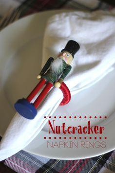 Nutcracker napkin rings