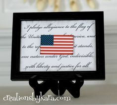 4th of July Art Printable (Also cute for Flag Day, Memorial Day, or President's Day)