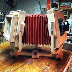 como construir una cámara de gran formato de madera