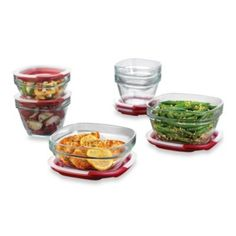 Rubbermaid® 12-Piece Glass Food Storage Container Set with Easy-Find Lid - BedBathandBeyond.com