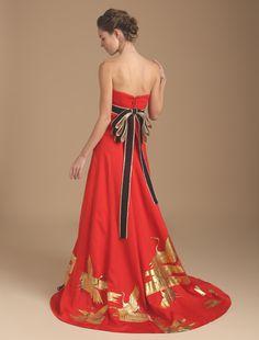 Wedding dress, if high quality wedding dress W by Watabe Wedding / kimono dress · silk · red · slender