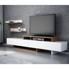 Wooden TV Stand Designs You Can Make Yourself - Dlingoo Tv Unit Furniture, Furniture Design, Furniture Nyc, Cheap Furniture, Tv Wanddekor, Rack Tv, Tv Stand Designs, Living Room Tv Unit Designs, Muebles Living
