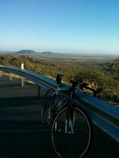 Lovely day for a bike ride up the Mount Morgan Range