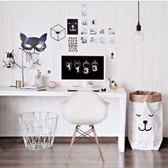 Espace bureau noir & blanc