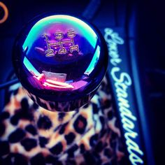 Neochrome Shift Knob and custom leopard fabric on the Shift Boot!