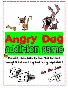Angry Dog Addition Game! (For Elementary)