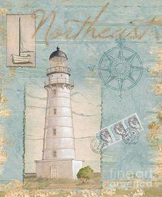 Seacoast Lighthouse Ii Print By Paul Brent