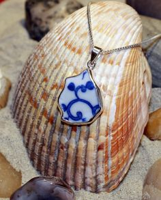 Sterling Silver Beach Pottery Pendant!