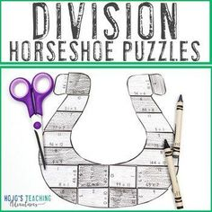 DIVISION Horseshoe St Patricks Day Craftivity, Math Centers, or FUN Games | 3rd, 4th, 5th grade, Activities, Basic Operations, Games, Homeschool, Math Centers, Mental Math, St. Patrick's Day 3rd Grade Classroom, Special Education Classroom, Fun Games, Fun Activities, Reading Recovery, 12th Maths, Ell Students, Homeschool Math, Summer School