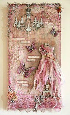 Michelle Grant heeft zich flink uitgeleefd op dit prachtige roze canvas! Gerelateerd