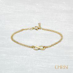 Armband von CHRIST Gold mit Unendlichkeitssymbol. www.christ.de