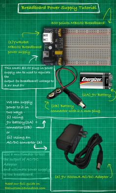Battery is not a cost effective. Not always we use micro controller. Here is a guide on Breadboard Power Supply Tutorial for all situations.