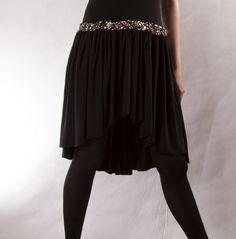 Black Tie Skirt / Flowy Skirt