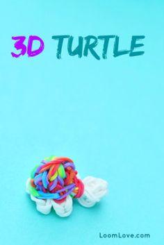 Rainbow loom turtle