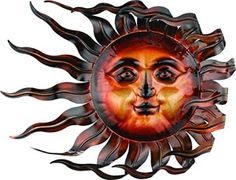 Regal Art &Gift Windswept Sun Wall Decor  Decorating your backyard or garden is easy, fun, and cute when you use metal outdoor wall art.  You can incorporate sun, gecko, moon , flower and all kinds of other metal wall decor that is perfect for your garden outdoor space.  This metal wall art is the epitome of style and an great start when it comes to outdoor decorating ideas.