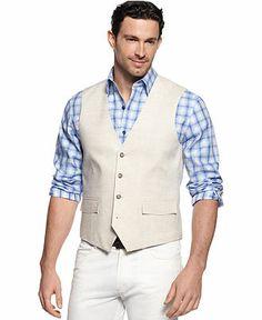 Tasso Elba Vest, Linen Vest - Men's Vests - Men - Macy's