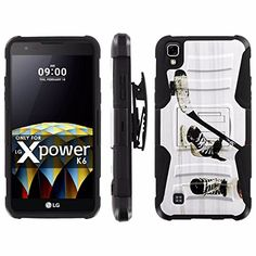 Buy LG X Power [K210 K450 K6 K6P K220 US610] Armor Case [Mobiflare] [Black/Black] Blitz Armor Phone Case [Holster] Screen Protector - [Hockey Game] for LG X Power NEW for 15.95 USD | Reusell