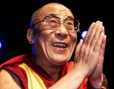 His Holiness the 14th Dalai Lama of Tibet.  When His Holiness came to Melbourne, I went along to hear him speak.