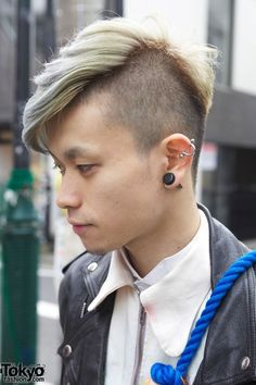 Definitely will do this sometimes! Partially shaved silver/blonde hair.
