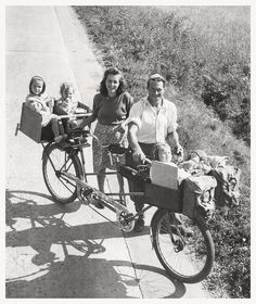 Family Cycling Holiday, 1949. | by Paris-Roubaix