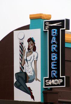Barber Shop sign Melbourne, Victoria, Australia