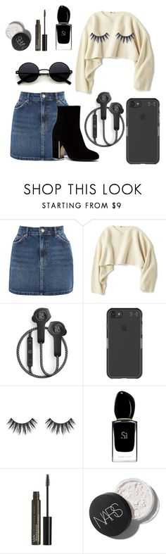 """""""#united"""" by aleksandra-20 ❤ liked on Polyvore featuring Topshop, Uniqlo, B&O Play, Under Armour, Giorgio Armani and NYX"""