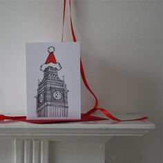 Big Ben Christmas Card by artyadz on Etsy, £2.00