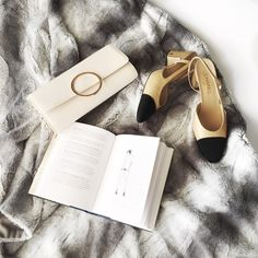 Chanel, shoes, fashion, flatlay, H&M, bags, curvy fashion blogger for women over 35,
