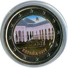 moneda conmemorativa 2 euros España 2011 Alhambra. Color