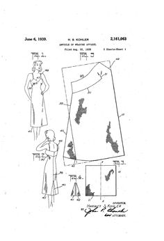 1938 ARTICLE OF WEARING APPAREI  Harriet S. Kohle