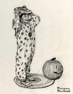 Girl Dressing Up For Halloween