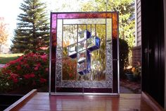 3D Stained Glass Cross by StainedGlassByHarvey on Etsy, $125.00