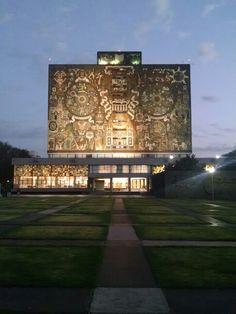 #UNAM #BibliotecaCentral #JuanOGorman #Arquitectura