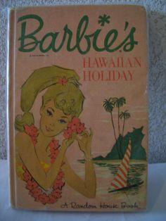 """Vintage """"Barbie's Hawaiian Holiday"""" Book"""