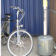 An innovative new bicycle pump which has been carefully designed to fit within both modern and traditional urban environments. The Falco Air Station is also a great idea for cycle hubs and other mass parking areas where it is important to offer cyclists a range of services.   http://www.falco.co.uk/products/advanced-cycle-products/bicycle-pump-falco-air-station/
