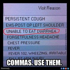 Commas.  Use them.