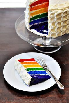 Vanilla Bean Rainbow Layer Cake by Courtney | Cook Like a Champion, via Flickr