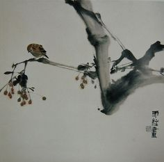 Qin TianZhu Japanese Painting, Chinese Painting, Chinese Art, Japanese Art, Chinese Brush, Sumi E Painting, Watercolor Art Paintings, Watercolor And Ink, Tinta China