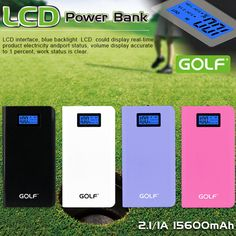 15600mAh Power Bank Dual USB High Capacity With LCD Display Electricity Storage Portable External Battery Charger for xiaomi Shell material:ABS+PC, matte surfaceLCD surface, shows the dump electricThe highest capacity, with 2 USB of outputLCD surface, shows the dump electric Weight 238g Color: Pink / White / Blue / Black/Green Payment & Shipment: We accept payment ...
