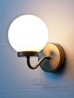 Edle Wandleuchte Wandlampe im Jugendstil 8521 Echtglas Lampe ... | {Badlampe wandlampe 68}