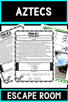 Aztec Empire Escape Room for upper elementary and middle school students!  Aztec Empire activities to keep your students engaged! #History #HomeSchool #4thgrade #5thgrade #6thgrade #ReadingComprehension #MiddleSchool #UpperElementary 7th Grade Classroom, Aztec Empire, Middle School Activities, Upper Elementary Resources, World History Lessons, 5th Grade Reading, History Activities, Escape Room, 5th Grades