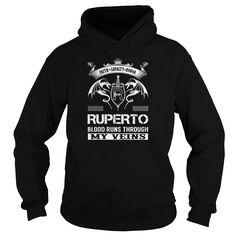 RUPERTO Blood Runs Through My Veins (Faith, Loyalty, Honor) - RUPERTO Last Name, Surname T-Shirt