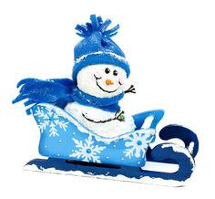 Nicole™ Crafts Snowman and Sled #christmas #craft