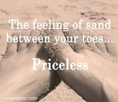 Sandy toes - priceless