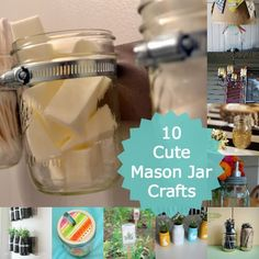 """10 Cute Crafts to Make With Mason Jars  After all, nuthin' says """"country"""" like something in a Mason jar!"""